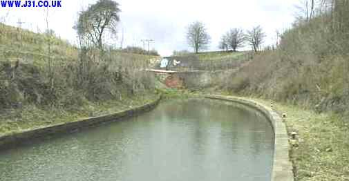 The bricked up entrance to a canal tunnel that was over a mile long
