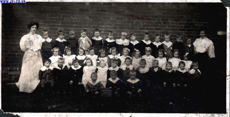 Infant pupils, Kiveton School 1909
