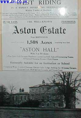Aston hall estate for sale poster