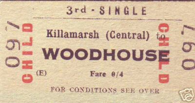 Killamarsh midland railway station ticket